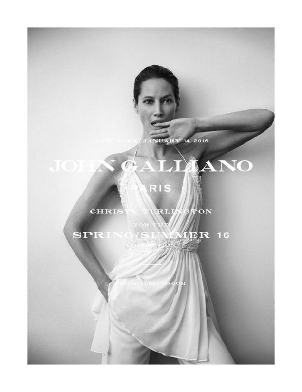 John Galliano S/S 2016 : Christy Turlington by Inez van Lamsweerde & Vinoodh Matadin
