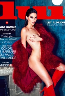 Lily Aldridge Wears Nothing But Boots and Fur on Lui's March 2016 Cover (Forum Buzz)