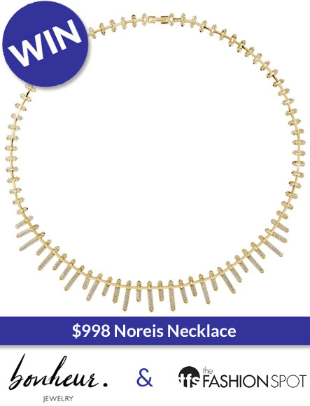 bonheur jewelry necklace giveaway