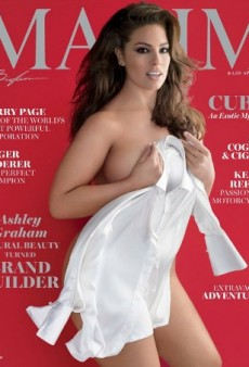 Fans Accuse Maxim of Slimming Down Model Ashley Graham on the April Cover
