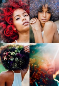 This Blogger Pairs Afros With Flowers for a Beautiful New Photo Series