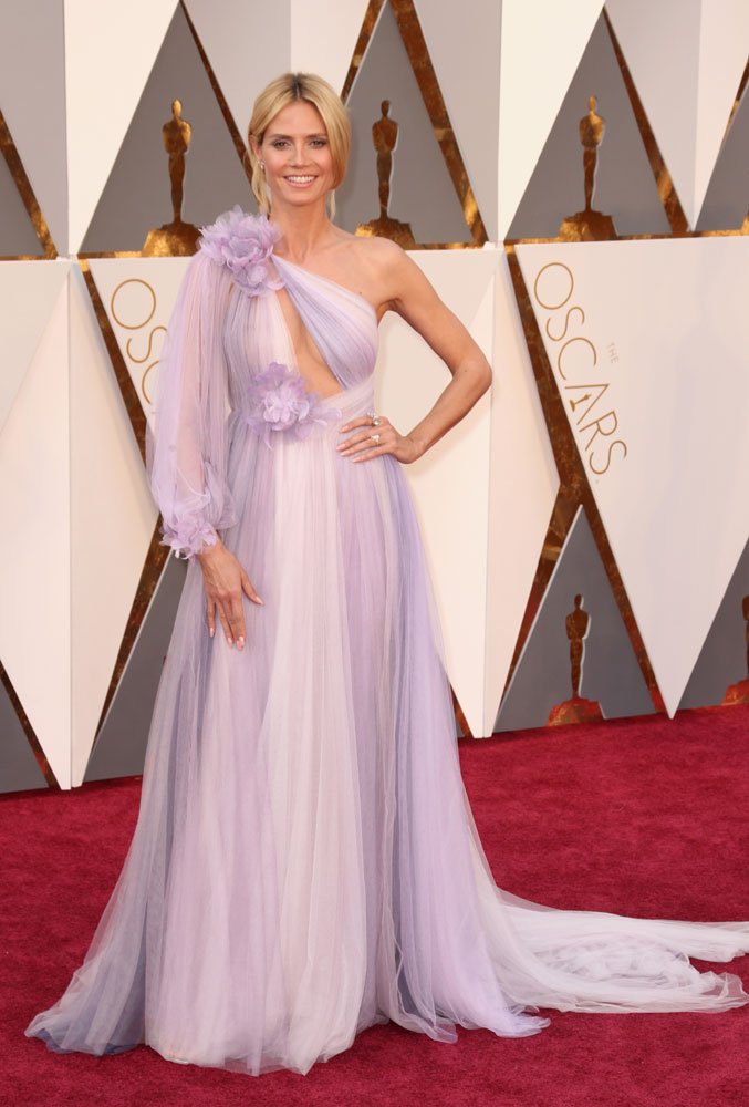 Heidi Klum in Marchesa at the Oscars 2016