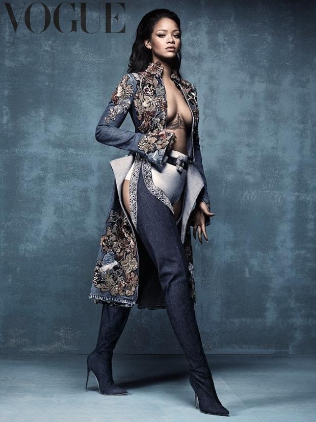 UK Vogue April 2016 : Rihanna by Craig McDean