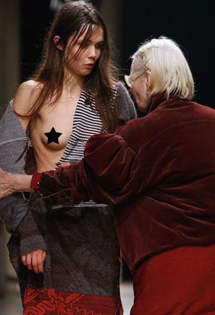 Vivienne Westwood Fixes Runway Nip Slip At Fall 2016 Show