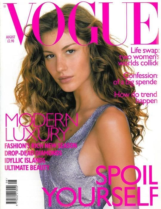 Gisele Bündchen's first magazine cover.