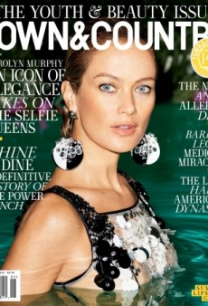 Carolyn Murphy Wears Prada in the Pool for Town & Country's Terry Richardson-Shot Cover (Forum Buzz)