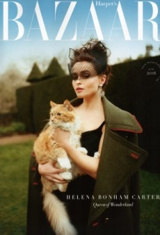 Helena Bonham Carter Does 'Glamorous Cat Lady' on UK Harper's Bazaar's Gorgeous June Cover (Forum Buzz)
