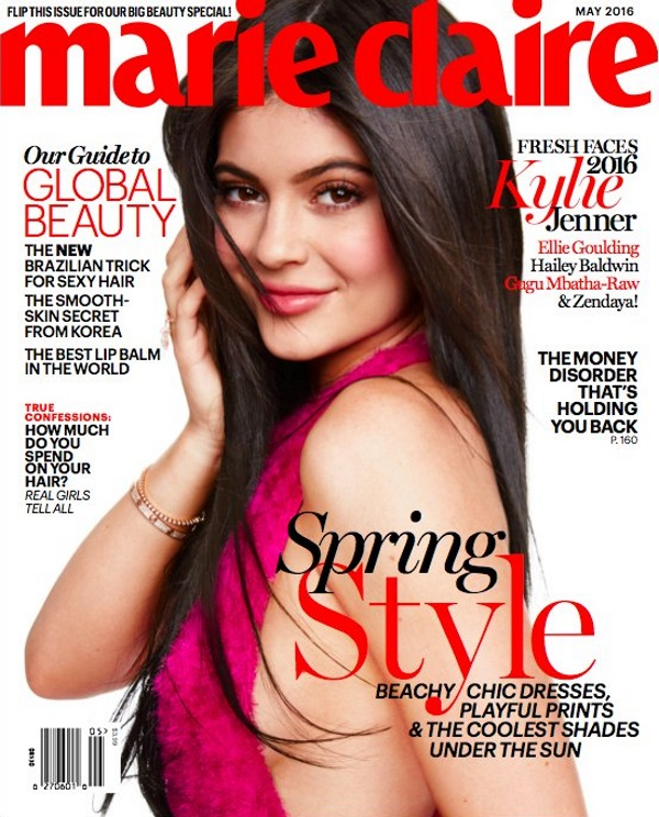 US Marie Claire May 2016 : Kylie Jenner by Tesh
