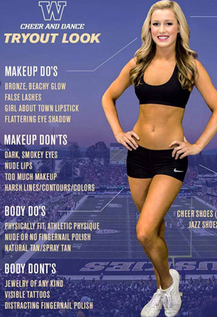 University of Washington Cheerleading Team Tryout Infographic