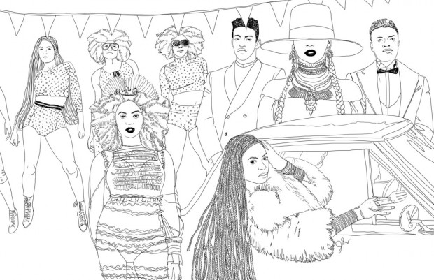 Coloring Book For Fashion : This lemonade inspired coloring book is the ultimate form of