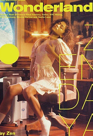 Zendaya Coleman covers Wonderland magazine's summer issue.