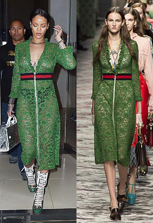 Rihanna-NYC-Gucci