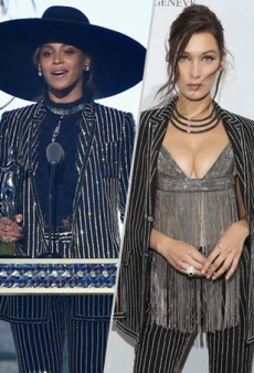 Style Showdown: Beyoncé and Bella Hadid Glitz Up Givenchy and More Matching Celebs
