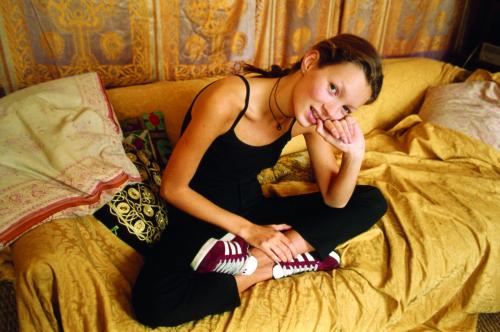 Kate Moss in Adidas Gazelles circa 1993.