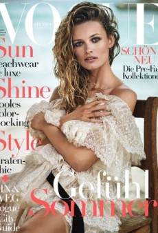 Too Much Text Ruins Edita Vilkeviciute's Vogue Germany Cover (Forum Buzz)