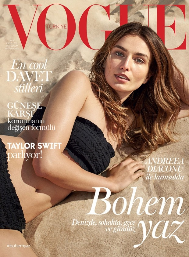 Vogue Turkey June 2016 : Andreea Diaconu by Dan Martensen