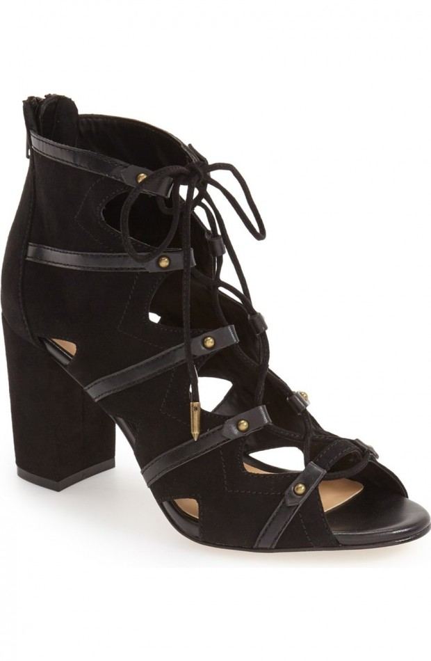 The black suede Alfie lace-up bootie from Daya by Zendaya.
