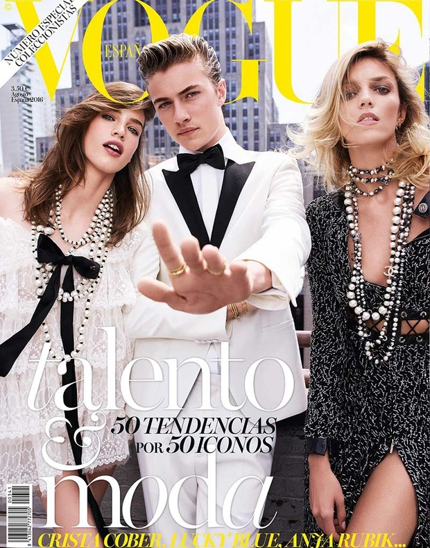 Lucky Blue Smith Gets Overshadowed by Anja Rubik and Crista Cober on Vogue Spain - MyTrinity Magazine