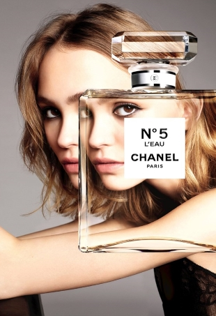 Chanel 'No.5 L'Eau' Fragrance 2016 : Lily-Rose Depp by Karim Sadli