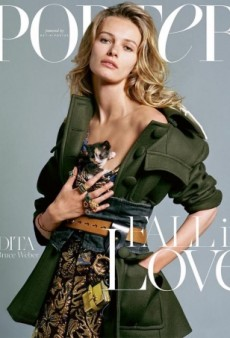 A Kitten Steals the Show From Edita Vilkeviciute on the Cover of Porter (Forum Buzz)