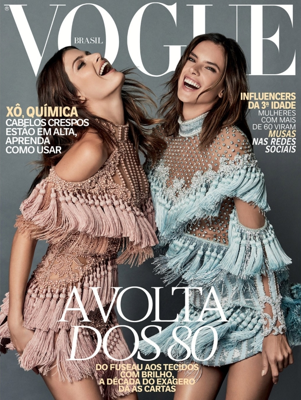 Vogue Brazil October 2016 : Isabeli Fontana & Alessandra Ambrosio by Mariano Vivanco