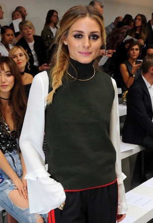 LONDON, ENGLAND - SEPTEMBER 18: Olivia Palermo attends the Mary Katrantzou show during London Fashion Week Spring/Summer collections 2017 on September 18, 2016 in London, United Kingdom. (Photo by Eamonn M. McCormack/Getty Images)