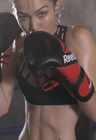Gigi Hadid stars in Reebok's latest #PerfectNever promos.