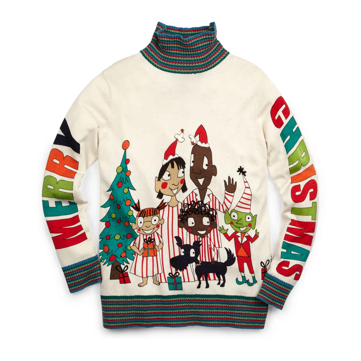 Whoopi Goldberg's All Together Now sweater.