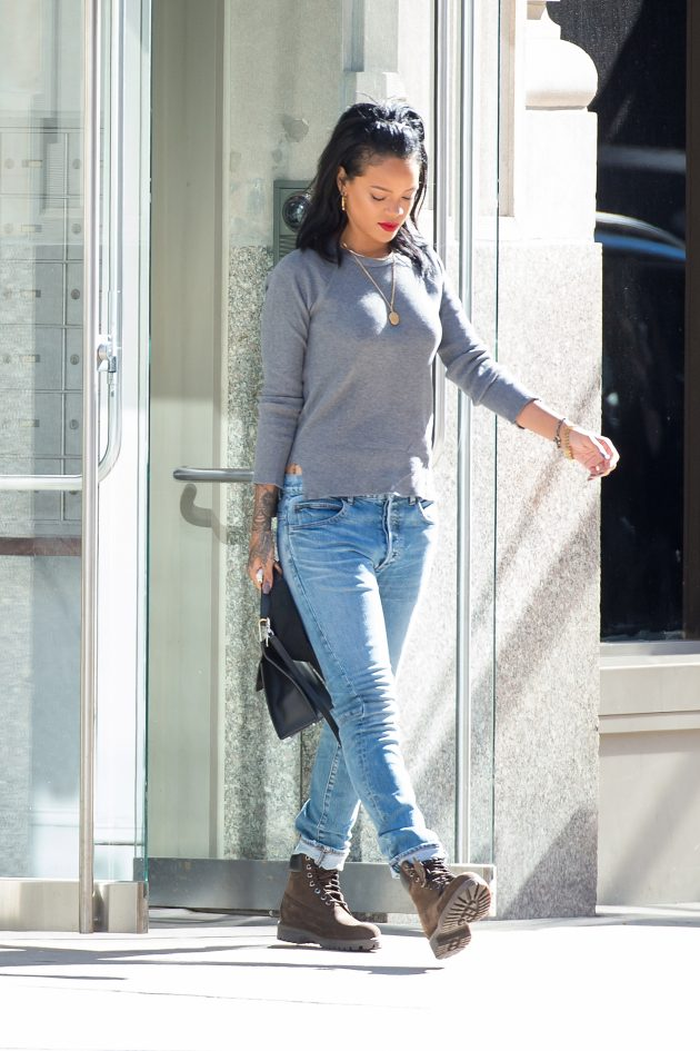 Singer Rihanna seen on the streets of Manhattan on September 27, 2014 in New York City.