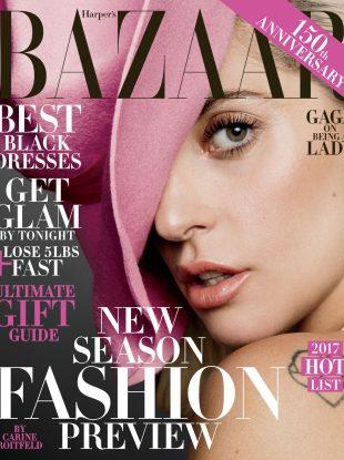 US Harper's Bazaar December 2016 / January 2017 : Lady Gaga by Inez & Vinoodh