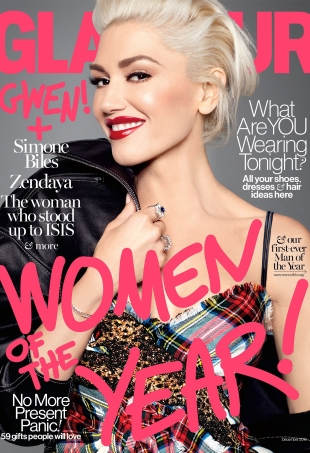 US Glamour December 2016 : Gwen Stefani by Miguel Reveriego