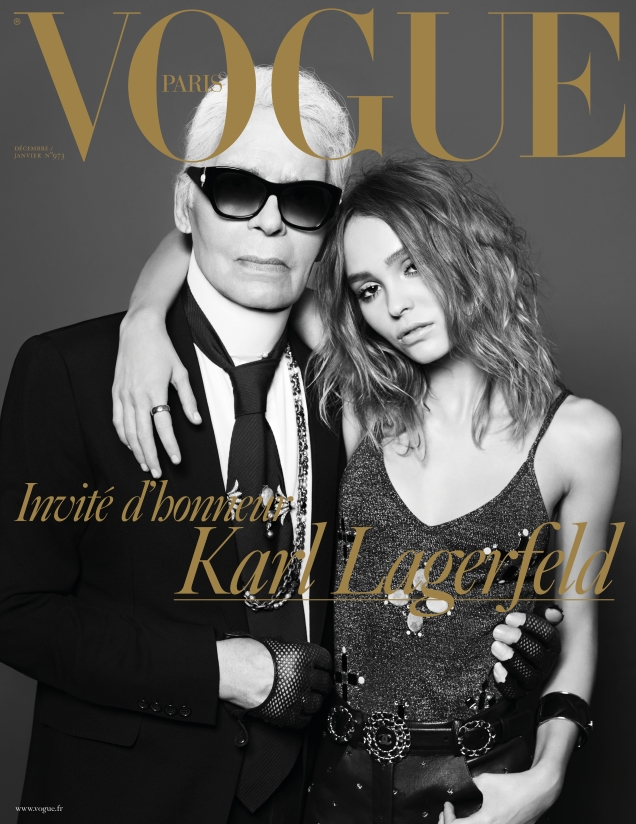 Vogue Paris December 2016 / January 2017 : Karl Lagerfeld & Lily-Rose Depp