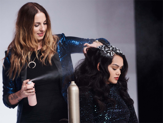 Hairspray helps set the hair foil in place