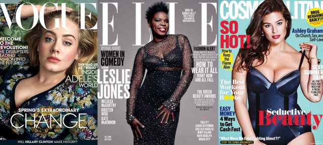 Vogue US March 2016, Elle US July 2016, Cosmopolitan August 2016; Images: Courtesy