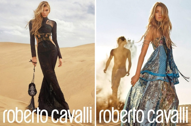 Roberto Cavalli S/S 2017 : Stella Maxwell & Jordan Barrett by L. & A. Morelli
