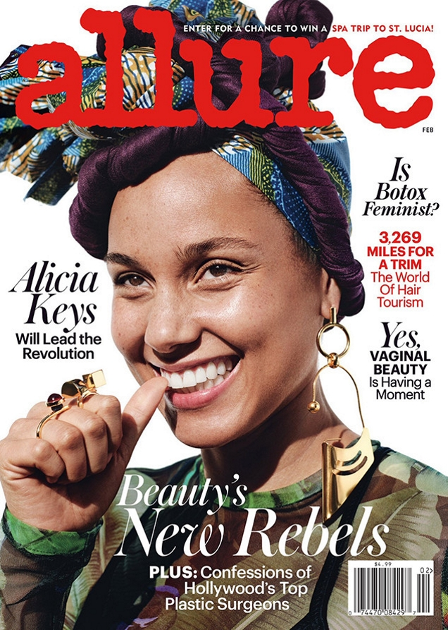 Allure February 2017 : Alicia Keys by Paola Kudacki