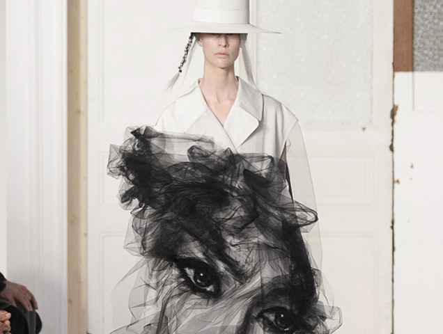 Gallianos Face Coat For Maison Margiela Haute Couture