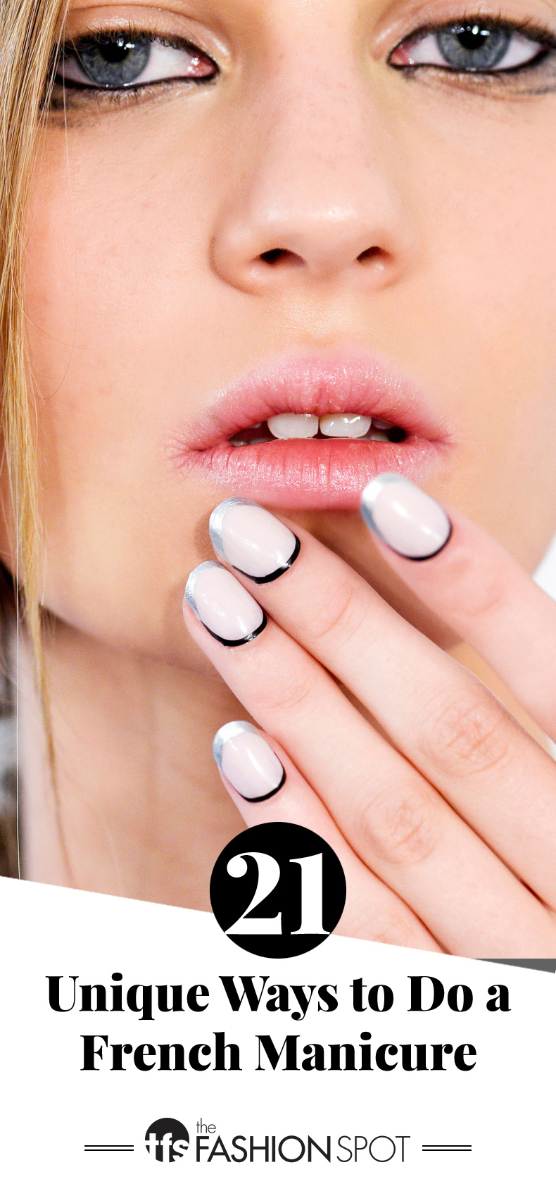 Nail Art Ideas: 21 Updated French Manicure Designs