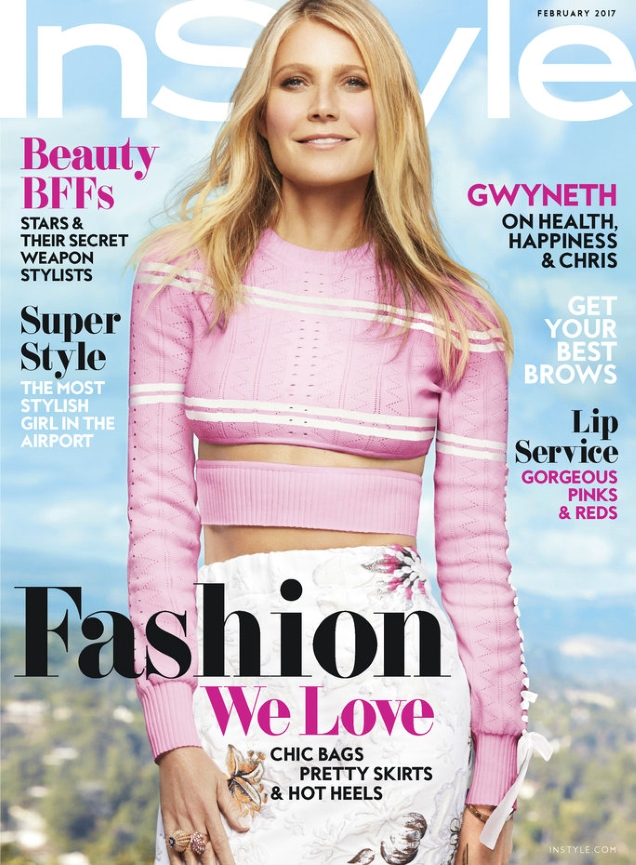 US InStyle February 2017 : Gwyneth Paltrow by Greg Kadel