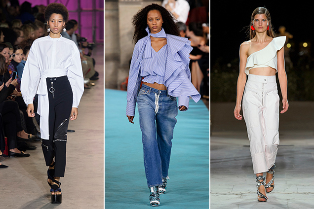 Ellery Spring 2017, Off-White Spring 2017, Isabel Marant Spring 2017; Images: Imaxtree