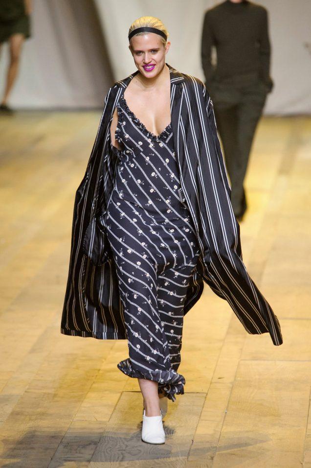 Stella Duval walks H&M Studio's see-now-buy-now runway.