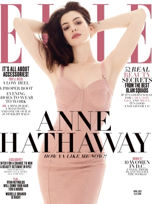 US Elle April 2017 : Anne Hathaway by Terry Tsiolis