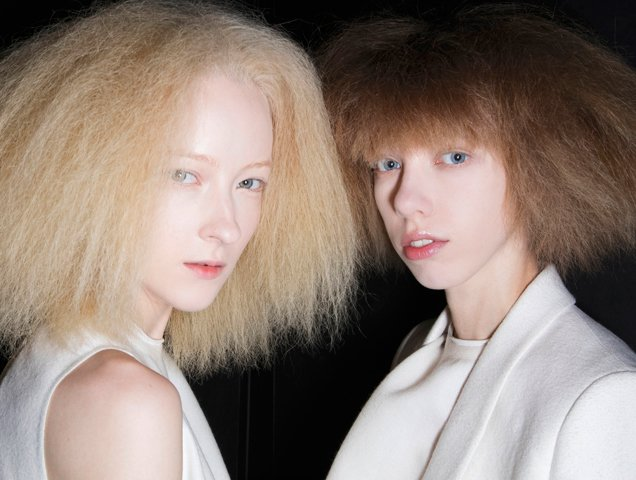 models with dry, brittle looking hair