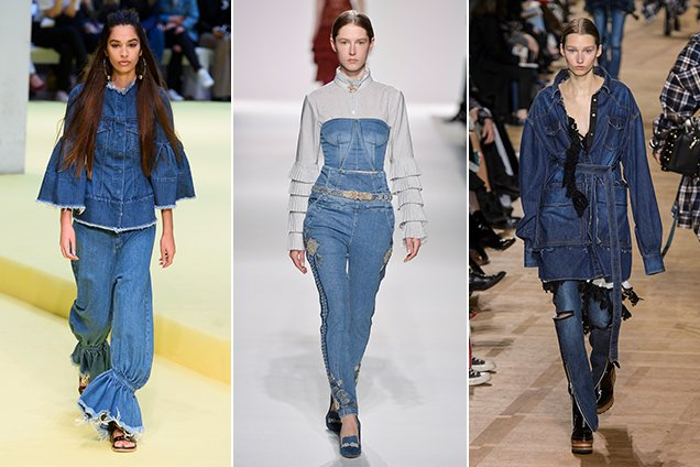 2000s denim on the Fall 2017 runways.