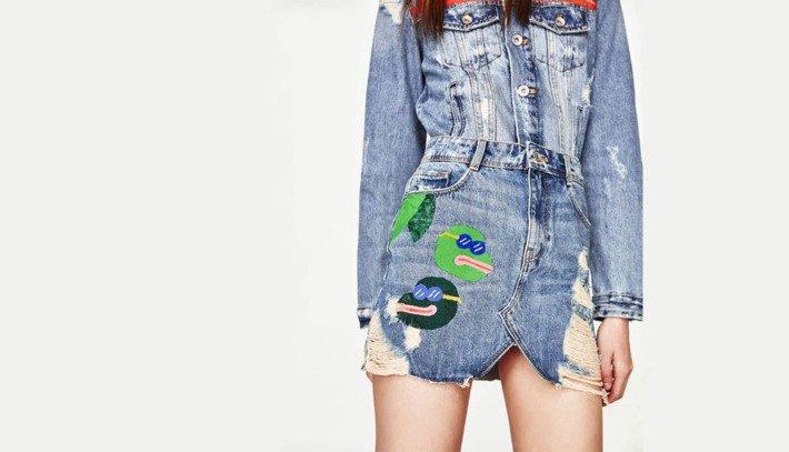 Zara's Pepe-embroidered skirt; Image: Zara
