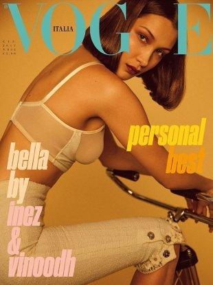 Vogue Italia June 2017 : Bella Hadid by Inez van Lamsweerde & Vinoodh Matadin