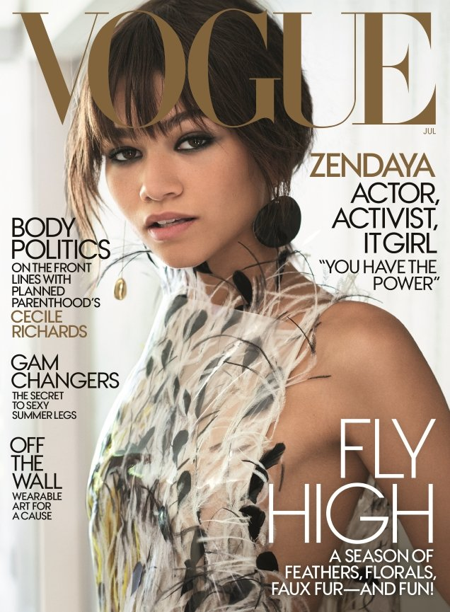 US Vogue July 2017 : Zendaya by Mario Testino