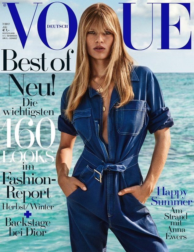 Vogue Germany July 2017 : Anna Ewers by Giampaolo Sgura