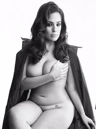 Ashley Graham, Doutzen Kroes and Alexa Chung pose topless for Love magazine.