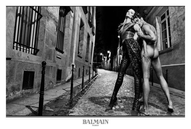 Balmain F/W 2017.18 : Natasha Poly & Lara Stone by Olivier Rousteing